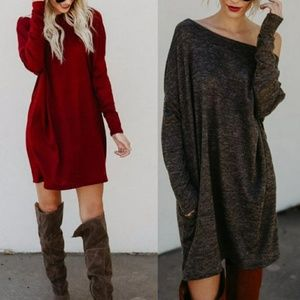 🆕⭐New item⭐Dark red oversized dress